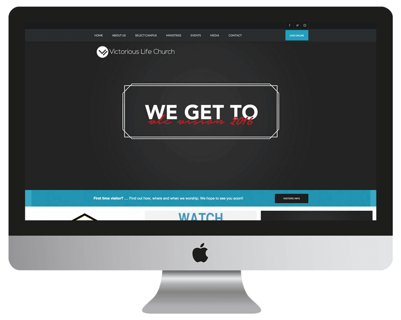 victorious life church web design